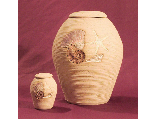 Seashell Clay Urn Set